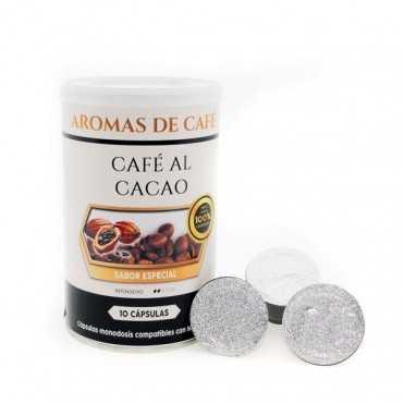 Capsulas de cafe con cacao compatibles con Nespresso