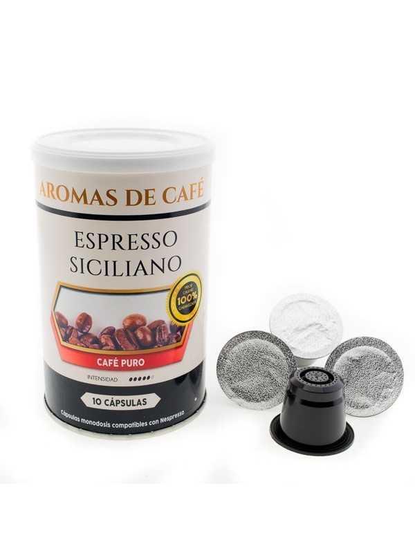Capsulas de Cafe Espresso Siciliano compatibles con Nespresso