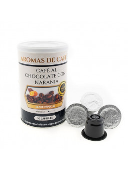 Cápsulas de Café con Chocolate y Naranja compatibles con Nespresso