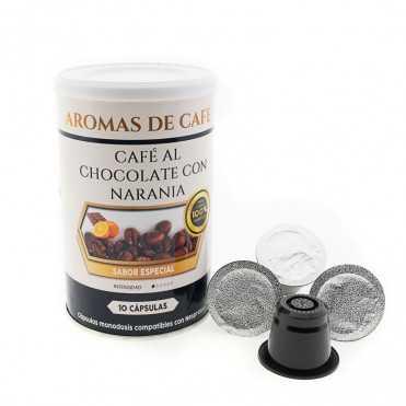 Capsulas de Cafe con Chocolate y Naranja compatibles con Nespresso