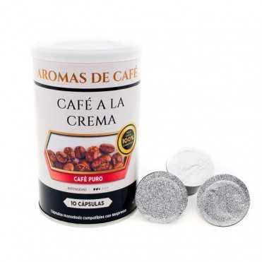 Capsulas de cafe a la crema compatibles con Nespresso